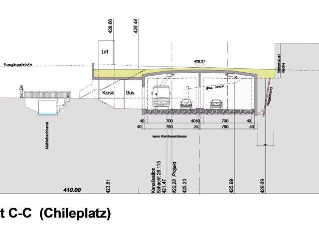 Ebikon Strassenquerschnitt (Chileplatz)